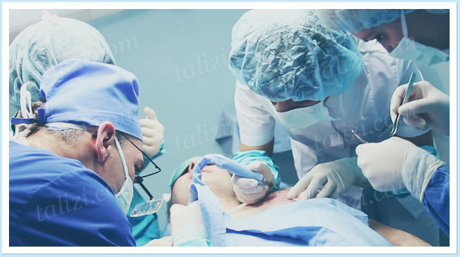 Photo: 2 surgeons and 3 assistants worked on grafts extraction