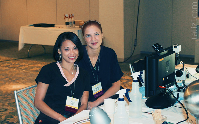 Photo: Salome Vadachkoria and workshop manager Judy Inguito